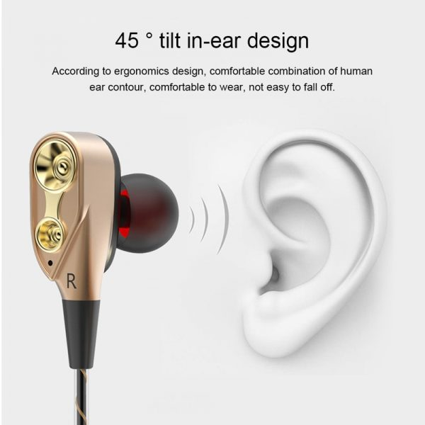 TEBAURRY Double Drive Bass Subwoofer Earphones