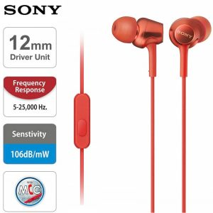 SONY MDR-EX255AP In-ear Headphones 3.5mm Wired Earbuds