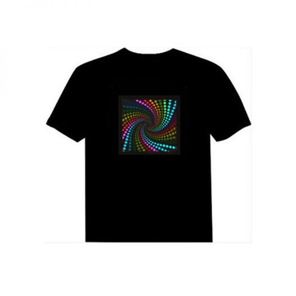 Sound Activated LED Flashing DJ T shirt