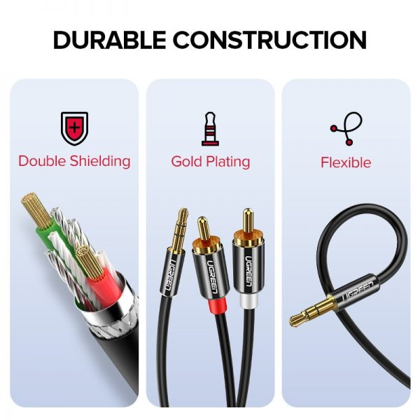 UGREEN 3.5mm to 2-Male RCA Adapter Cable