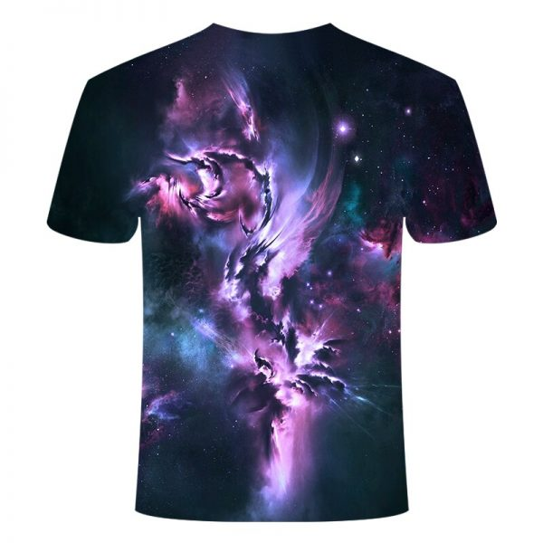 Galaxy Space Psychedelic Floral 3D Print