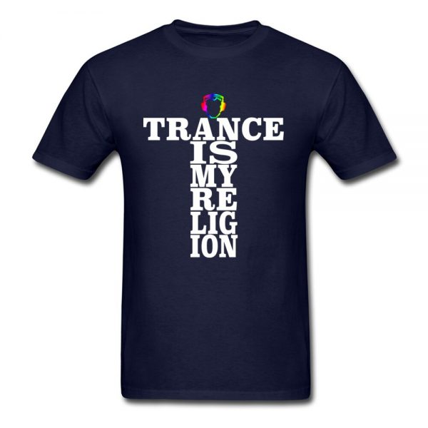 Trance Is My Religion Round Collar T Shirts